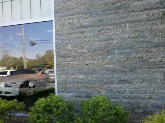 Exterior Wall Veneer Adjacent BMW Showroom
