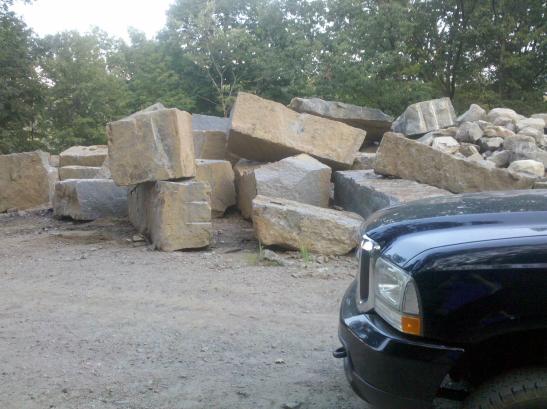 Hillburn Granite Quarry : Granite quarry blocks hillburn landscape